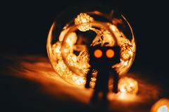 Bad Danbo (alexander,v) Tags: danbo danboard toy figure canon sigma 50mm sigmaart christmas lights makro bokeh dof amazon