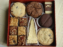 Assorted Christmas Cookies in Japanese Multi-Tiered Box