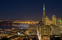 San Francisco downtown under moonlight (canbalci) Tags: sanfrancisco christmas night downtown financialdistrict northbeach baybridge bayarea moonlight transamerica sfchronicle96hrs p1f1