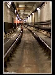 Barrel Blur (metroknome) Tags: longexposure lights urbandecay traintracks urbanexploration exploration traintunnel metroknome