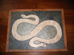 Two-headed Snake (godalwayshungry) Tags: 2 snake heads marble slate saturnia inlaid