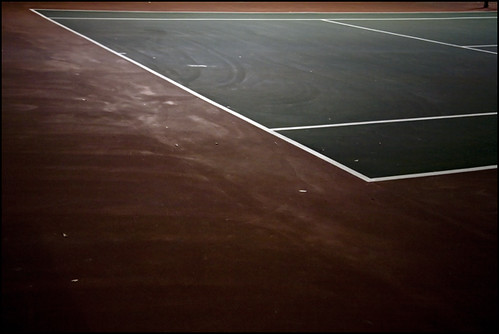 tennis court @ night