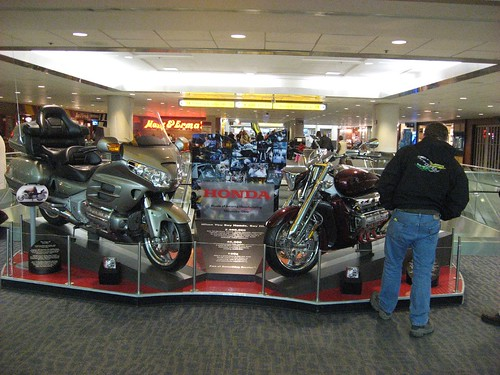 Honda Motorcycles in display @ Columbus Airport