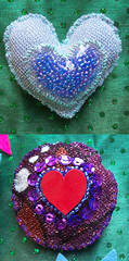 detalle (R o s a  e p i t a f i a) Tags: craft pins colores manual corazon prendedores broches lentejuela accesorio