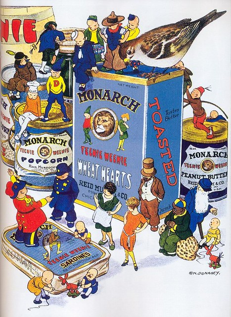 William Donahey, Monarch Food Products ad, 1928
