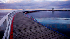 the boardwalk (hoogen imagery) Tags: blue red australia victoria geelong easternbeach coriobay hoogenimagery
