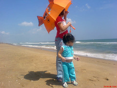 GenX Buddies (aryansh) Tags: ocean blue girls sea woman baby india beach girl umbrella photo buddies teens save buddy greenhouse planet chums puri sneha sneegdha