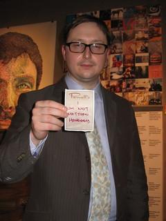John Hodgman at Powells