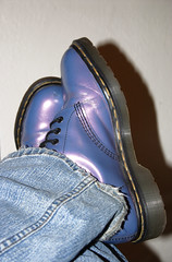 365.17 (TheBon) Tags: selfportrait shoes boots 365days docmartensshinypurple colorfulweek