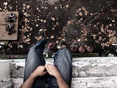 "Autumn (Part I) (Levan Kakabadze) Tags: autumn love window georgia peace hand leg gas thinking leafs gastanks nowar onelove batumi tabu adjara ©allrightsreserved საქართველო ბათუმი ajaria levankakabadze ""ლევანკაკაბაძე"" ტაბუ"