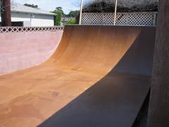 finished halfpipe (j.rusten studio) Tags: building project construction backyard ramp skateboarding santamonica skating skate skateboard halfpipe transition build skateboarder coping masonite badneighbors