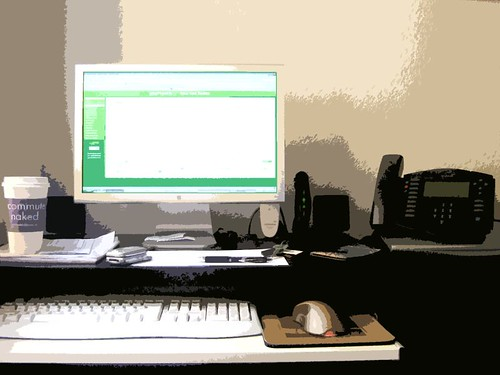 the workstation...