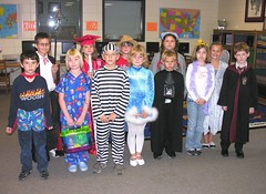 Third Grade - A Winner from Each Homeroom (Old Shoe Woman) Tags: school costumes students reading books bookcharacters redribbonweek readathon yearbook2006 drugawareness