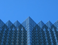 Glass Mountains Redux (amy allcock) Tags: blue sky toronto ontario canada abstract tower geometric glass architecture 1025fav 510fav october 2006 2550fav mass royalbank rbc gtaa photosho enlightening moocards moobusinesscards kpcnov2006 utataabstract enlighteningmosaic