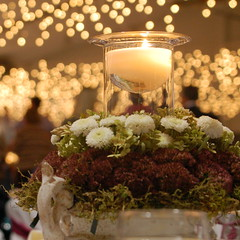 Another Wedding! (smcgee) Tags: flowers wedding party lights groom bride candle dancing decoration iowa reception weddings twincities centerpiece monticello weddingphotographer centerpieces weddingdetails weddingideas weddingphotography weddingcenterpieces october282006 jeffanna weddingtablesettings weddingtablescapes