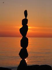 Rock Balance (Heiko Brinkmann) Tags: sunset sculpture water 1025fav 510fav germany landscape pebbles balance bodensee balancing rockbalancing lakeconstance badenwuerttemberg pebblebalancing natureslight thebeautyinlife 1on1photooftheday