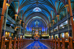 Notre Dame Basilica in Montreal (gogoninja) Tags: church montreal notredame hdr outstandingshot