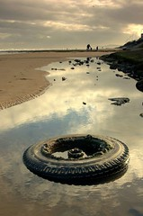 Tyred and resting (~Glen B~) Tags: uk sea england beach sand nikond70 cleveland teesside tyre redcar tamron28300mm satelliteportfolio