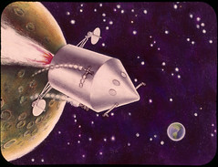 Early NASA artist conception of the Apollo command and service modules - by chrisspurgeon