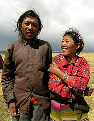 Tibet - Couple (yewco) Tags: china people couple tent tibet  soe nomads