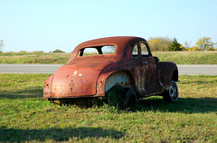 Hey, buddy you got a flat... (anyjazz65) Tags: abandoned rust flat ruin oldcar coupe ajo65