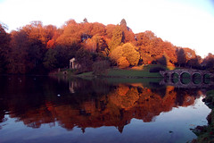 Stourhead (Joe Dunckley) Tags: uk autumn trees england water reflections lakes bridges stourhead wiltshire riverstour stourheadgardens