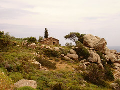 Ikaria 322 (isl_gr (Mnesterophonia)) Tags: winter house architecture rocks mediterranean hiking ikaria icaria  aegean trails replacement greece tradition february cistus kampos ege    geniiloci trailoftheelves perameria