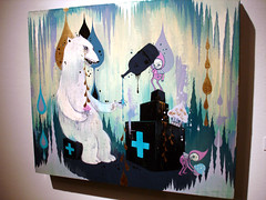 Camille Rose Garcia : Doomcave Daydreams (Coffee on Sundays) Tags: show art illustration painting la losangeles los gallery angeles fine camillerosegarcia