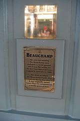 UK - London - Kensington: The Beauchamp (wallyg) Tags: uk greatbritain england london sign restaurant europe unitedkingdom britain cricket kensington beauchamp testmatch londonist kensingtonchelsea cricketground thebeauchamp beauchampplace