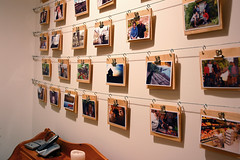Cheap, Easy Photo Display Wall - by alt text