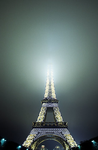 Eiffel Tower in fog | Paris