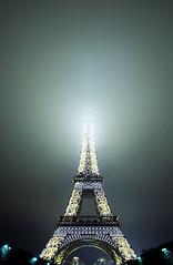 Eiffel Tower in fog | Paris