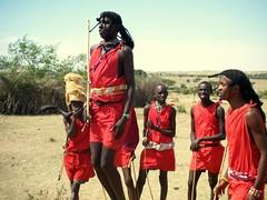 Maasai Mara warriors jumping (JaviC) Tags: africa wild animal animals jump rojo holidays kenya african reserve safari mara animales salto warriors massai kenia masai maasai guerreros savana saltar salvaje unaltraperlanera