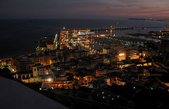 Alicante harbor (Marlis1) Tags: espaa spain bravo nightshot alicante oceanview abigfave