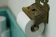 Old English Toilet Paper Holder