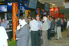 The exhibit hall at VoiceCon Fall 2005.