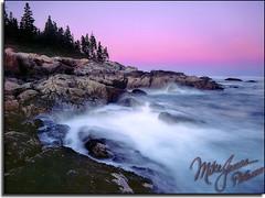 Dusk (MikeJonesPhoto) Tags: park sunset nature sunrise landscape dawn twilight purple dusk scenic national professionalphotographer mikejonesphoto skywateroceanseaoceanscapemaineacadia flickrelite