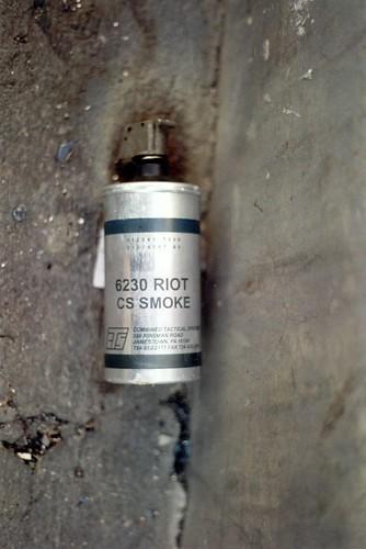 أحد القنابل المسيلة للدموع اللي اتلقوا علينا .. 302153077_db0636a55c