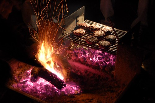 fire and meat