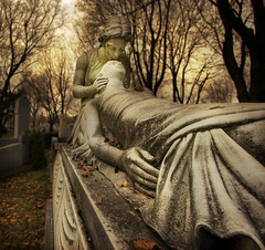 Enduring love (IrenaS) Tags: eye 20d cemetery statue canon bravo quebec montreal quality wideangle 1022mm hdr eyecatcher eyeofthebeholder photomatix magicdonkey instantfave abigfave artlibre cotedesneigescemetery