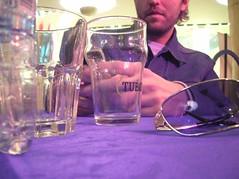 tavolino da bar (marco_ask) Tags: bar nokia gucci birra tavolino tovaglia sms tuborg telefonino occhiali prospettiva marcoask mesenovembre