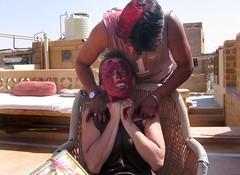 Unwilling Holi Participant (kekyrex) Tags: india festivals holi jaisalmer rajasthan