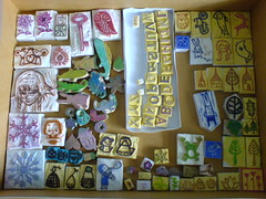 A Box Finally! (LoveSprouts) Tags: handmade stamps rubber carve collection