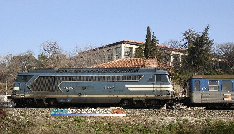 La BB 67542 de Marseille avec une livrée très proche de celle d'origine