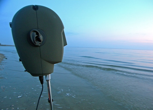 Neumann KU100 Head Recording on a Sand Bar