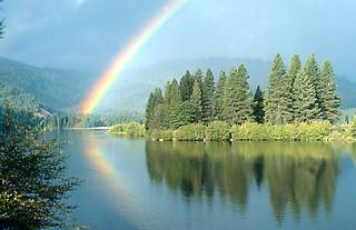 Rainbow over Lake Siskiyou