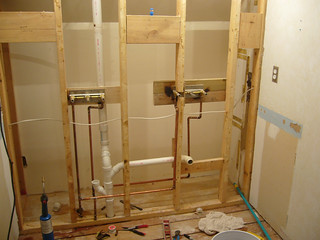 plumbing is finished