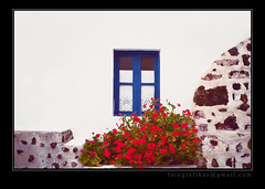 Greece On My Mind (babybee) Tags: santorini exploreinterestingness whitewall bluewindow globetrotter flickrexplore privateresidence explored exploretop500 scannedfromnegatives totalexposure thegreekisles islandhoppingingreece fotografikas senseofgreek