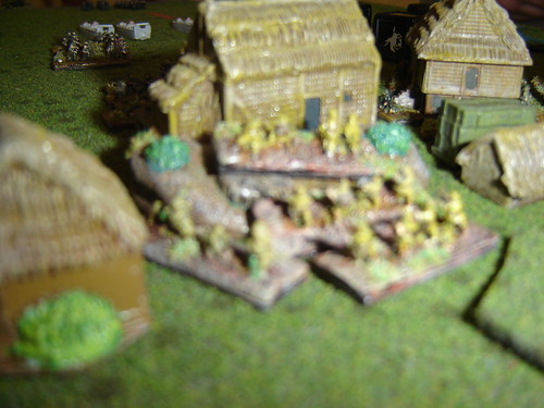 Japanese hold town against advance by US Marines left flank [Night Attack at Agat Beach]