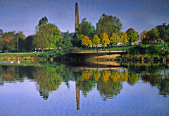 Autumn Glasgow Green  Glasgow (euan_pics) Tags: autumn glasgow palace river green glasgow peoples clyde nelsons column